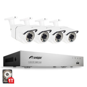 POE监控摄像头套装C105带1T硬盘